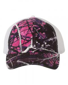 Muddy Girl/ White Washed Mesh-Back Cap