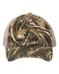 Realtree Max 5/ Tan Washed Mesh-Back Cap