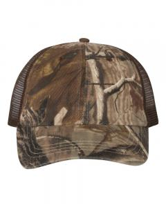 Realtree AP/ Brown Washed Mesh-Back Cap