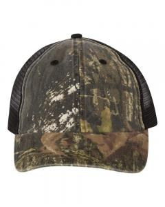 Mossy Oak Breakup/ Black Washed Mesh-Back Cap