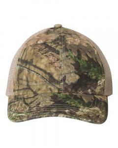 Mossy Oak Country/ Tan Washed Mesh-Back Cap