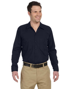 Dark Navy Men's 4.25 oz. Industrial Long-Sleeve Work Shirt