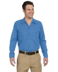 Light Blue Men's 4.25 oz. Industrial Long-Sleeve Work Shirt