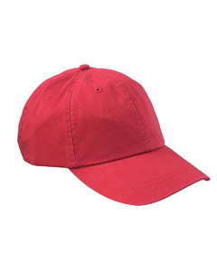 Red 6-Panel Low-Profile True Color Twill Cap