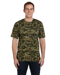 Green Digital Adult Camouflage T-Shirt