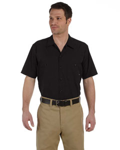 Black Men's 4.25 oz. Industrial Short-Sleeve Work Shirt