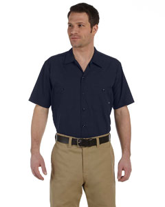 Navy Men's 4.25 oz. Industrial Short-Sleeve Work Shirt