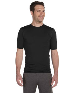 Black Men's Compression Short-Sleeve T-Shirt