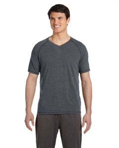 Grey Hthr Trblnd Men's Performance Triblend Short-Sleeve V-Neck T-Shirt