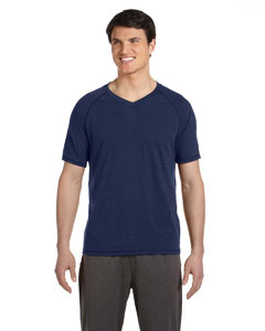 Navy Hthr Trblnd Men's Performance Triblend Short-Sleeve V-Neck T-Shirt