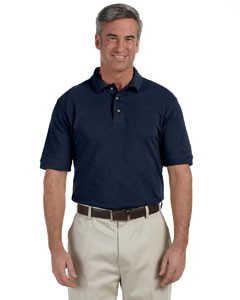 Navy Men's 6 oz. Ringspun Cotton Piqué Short-Sleeve Polo
