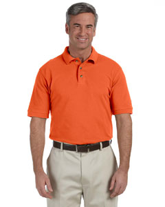 Team Orange Men's 6 oz. Ringspun Cotton Piqué Short-Sleeve Polo