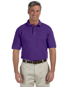 Team Purple Men's 6 oz. Ringspun Cotton Piqué Short-Sleeve Polo