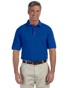 True Royal Men's Tall 6 oz. Ringspun Cotton Piqué Short-Sleeve Polo