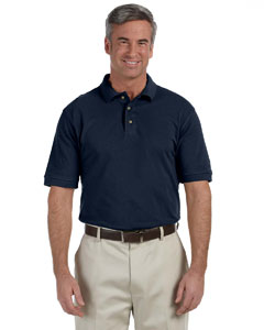 Navy Men's Tall 6 oz. Ringspun Cotton Piqué Short-Sleeve Polo