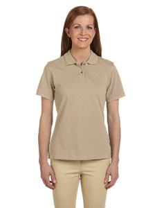 Stone Ladies' 6 oz. Ringspun Cotton Piqué Short-Sleeve Polo