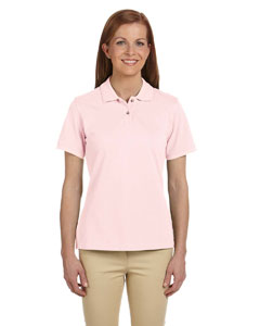 Blush Ladies' 6 oz. Ringspun Cotton Piqué Short-Sleeve Polo