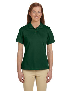 Dark Green Ladies' 6 oz. Ringspun Cotton Piqué Short-Sleeve Polo