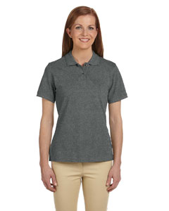 Charcoal Ladies' 6 oz. Ringspun Cotton Piqué Short-Sleeve Polo