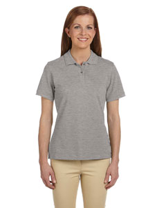 Grey Heather Ladies' 6 oz. Ringspun Cotton Piqué Short-Sleeve Polo