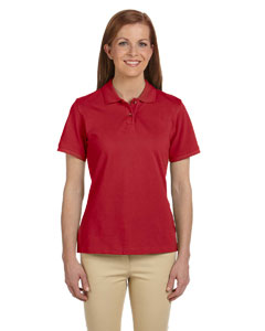 Red Ladies' 6 oz. Ringspun Cotton Piqué Short-Sleeve Polo