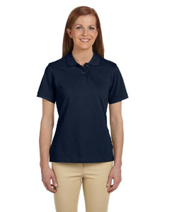 Navy Ladies' 6 oz. Ringspun Cotton Piqué Short-Sleeve Polo