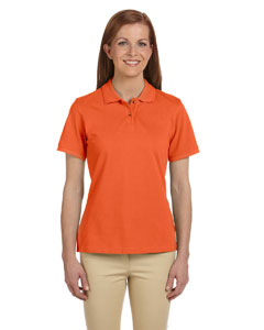 Team Orange Ladies' 6 oz. Ringspun Cotton Piqué Short-Sleeve Polo