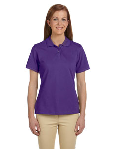 Team Purple Ladies' 6 oz. Ringspun Cotton Piqué Short-Sleeve Polo