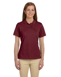 Wine Ladies' 6 oz. Ringspun Cotton Piqué Short-Sleeve Polo