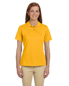 Sunray Yellow Ladies' 6 oz. Ringspun Cotton Piqué Short-Sleeve Polo