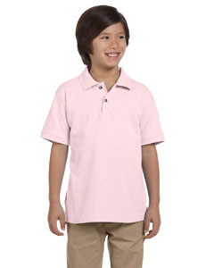 Blush Youth 6 oz. Ringspun Cotton Piqué Short-Sleeve Polo