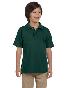 Hunter Youth 6 oz. Ringspun Cotton Piqué Short-Sleeve Polo