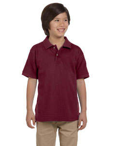 Wine Youth 6 oz. Ringspun Cotton Piqué Short-Sleeve Polo