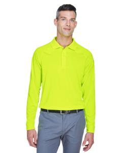 Safety Yellow Men's Advantage Snag Protection Plus Long-Sleeve Tactical Polo