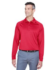 Red Men's Advantage Snag Protection Plus Long-Sleeve Tactical Polo