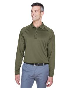 Tactical Green Men's Advantage Snag Protection Plus Long-Sleeve Tactical Polo