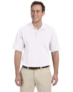 White Men's 5.6 oz. Easy Blend Polo