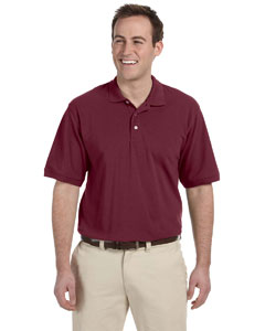 Wine Men's 5.6 oz. Easy Blend Polo