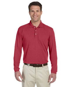 Red 5.6 oz. Easy Blend™ Long-Sleeve Polo