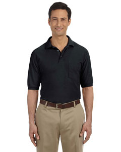Black 5.6 oz. Easy Blend Polo with Pocket