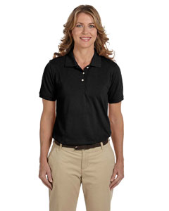 Black Ladies' 5.6 oz Easy Blend™ Polo