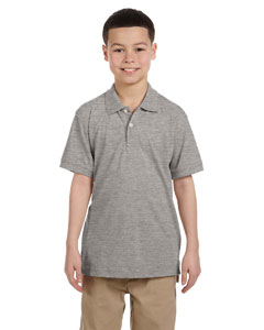 Grey Heather Youth 5.6 oz. Easy Blend™ Polo