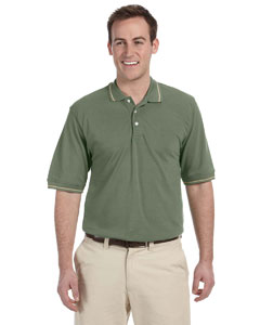 Dill/stone 5.6 oz. Tipped Easy Blend™ Polo