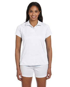 White Women's 4 oz. Polytech Polo