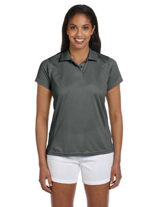 Charcoal Women's 4 oz. Polytech Polo