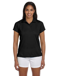 Black Women's 4 oz. Polytech Polo