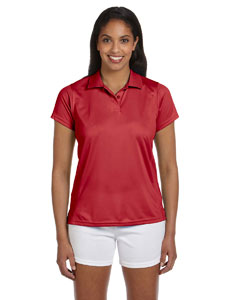 Red Women's 4 oz. Polytech Polo