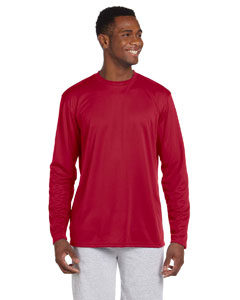 Red 4.2 oz. Athletic Sport Long-Sleeve T-Shirt