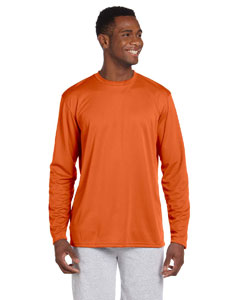 Team Orange 4.2 oz. Athletic Sport Long-Sleeve T-Shirt