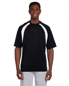 Black/white 4.2 oz. Athletic Sport Colorblock T-Shirt